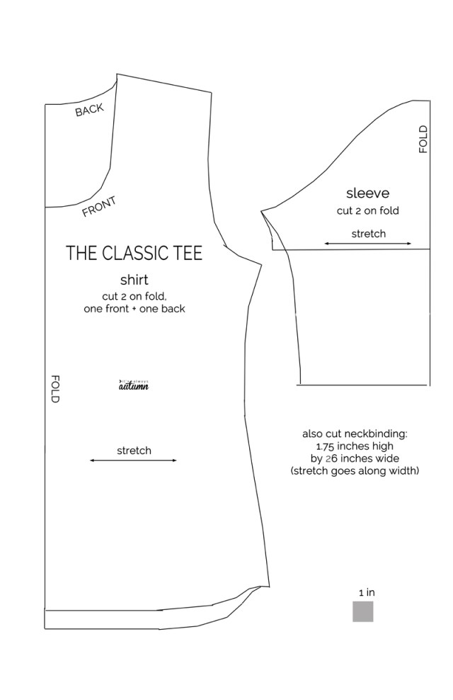 How To Make A Sewing Pattern The Classic Tee Free Pattern In Women Size L Its Always Autumn