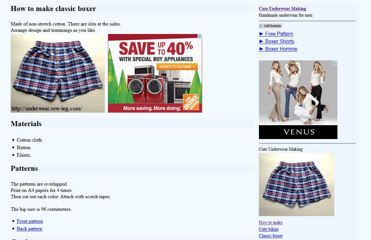 How To Make Sewing Patterns 9 Free Boxers And Underwear Sewing Patterns