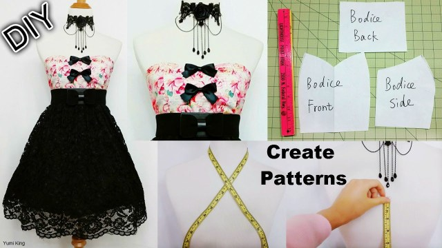 How To Make Sewing Patterns How To Create Your Own Patterns To Make Dresses And Costumes Diy
