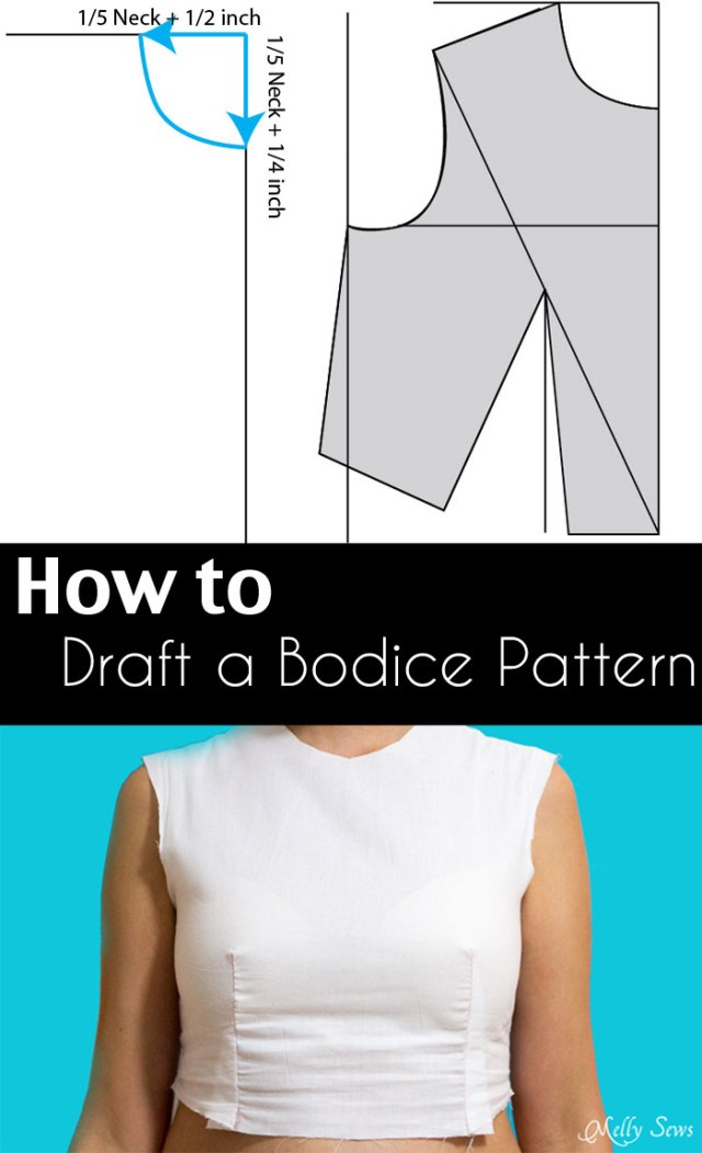 How To Make Sewing Patterns How To Make A Bodice Pattern Drafter A Sloper Or Block Melly Sews