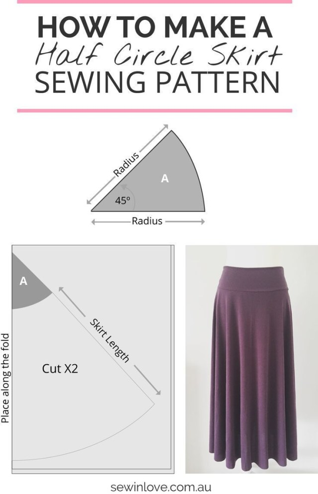 How To Make Sewing Patterns How To Make A Skirt In One Day Easy Half Circle Skirt Stuff To