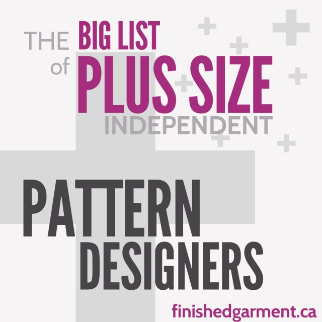 Indie Sewing Patterns The Big List Of Independent Sewing Patterns For The Plus Sized