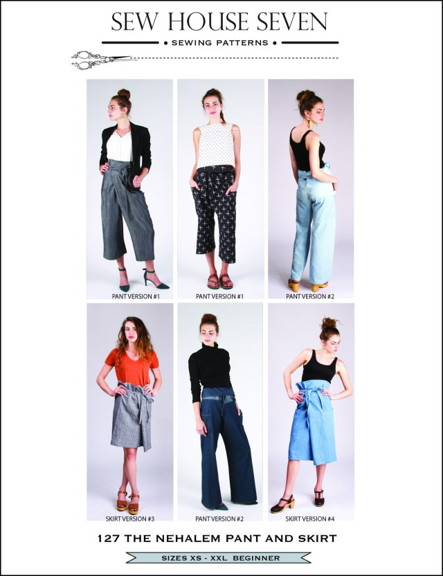 Indie Sewing Patterns The Nehalem Pant And Skirt Pdf Pattern Indie Sewing Patterns