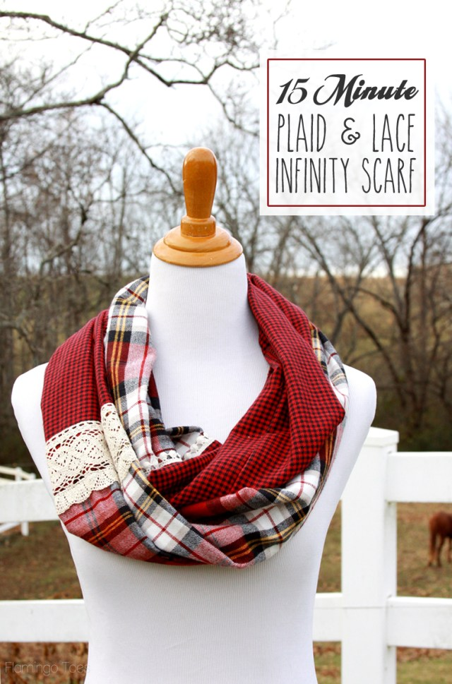 Infinity Scarf Sewing Pattern Infinity Scarf Tutorial Plaid Lace U Create