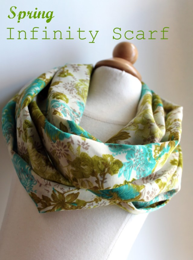 Infinity Scarf Sewing Pattern Lightweight Spring Infinity Scarf Tutorial The Cottage Mama