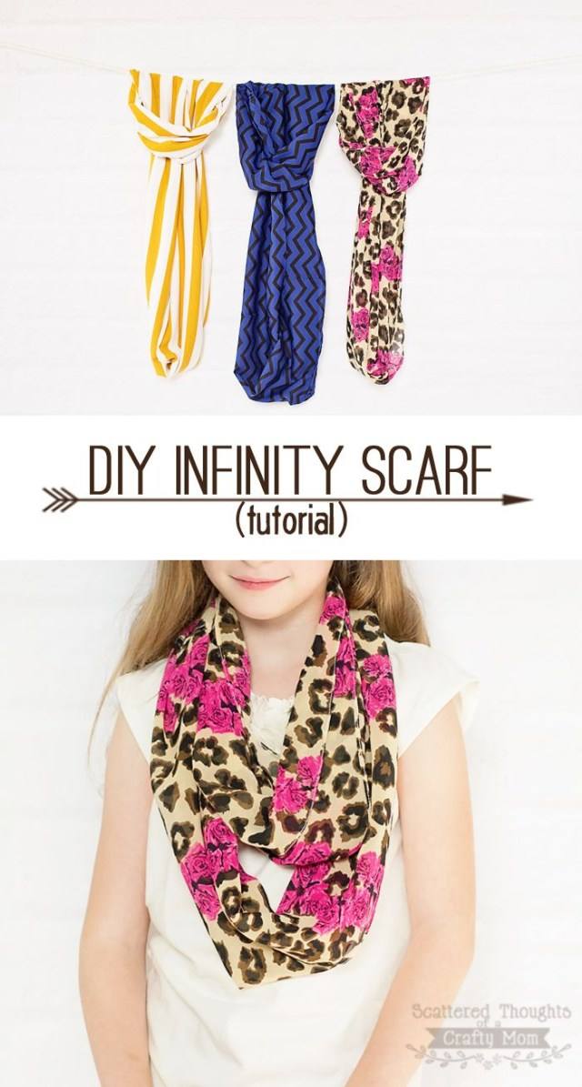 Infinity Scarf Sewing Pattern Make Your Own Infinity Scarf With This Quick And Easy Tutorial I