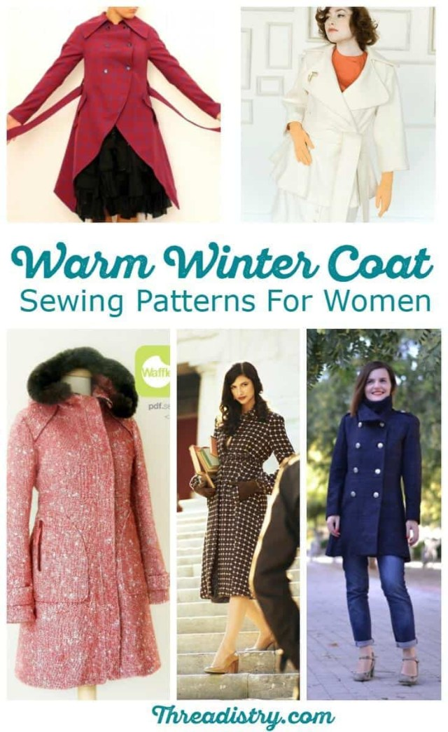 Jacket Sewing Patterns Brave The Cold With Wonderful Womens Winter Coat Sewing Patterns