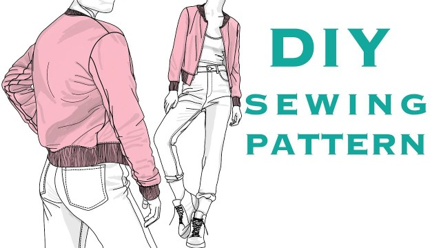 Jacket Sewing Patterns Design A Bomber Jacket Sewing Pattern Youtube