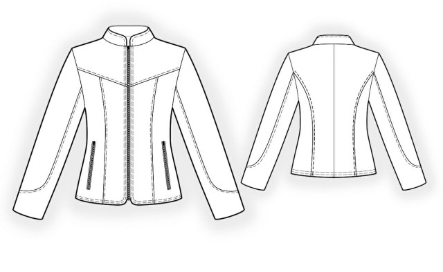 Jacket Sewing Patterns Leather Jacket Sewing Pattern 4296 Made To Measure Sewing Pattern