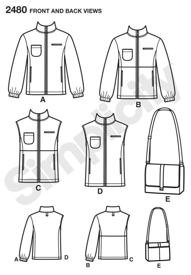 Jacket Sewing Patterns Simplicity 2480 Missesmenteen Jacket