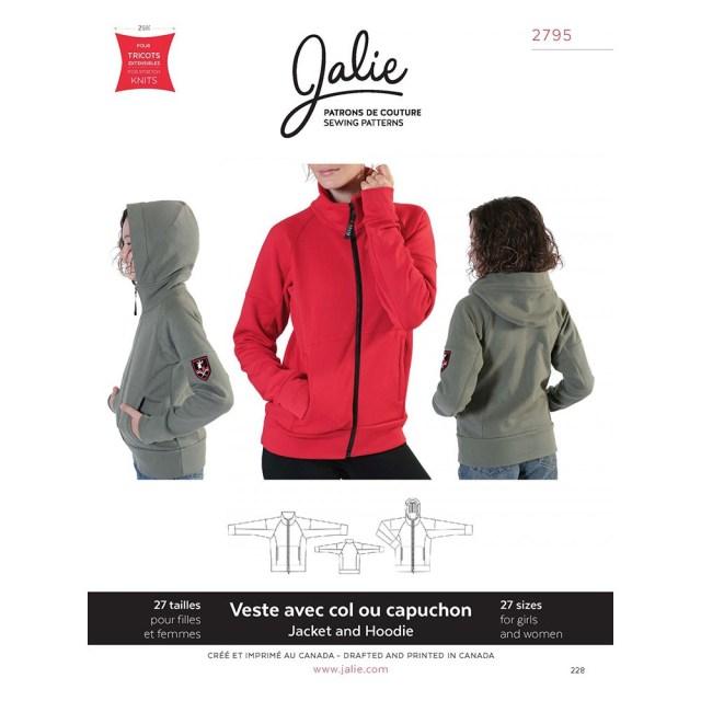 Jacket Sewing Patterns Zip Front Jacket And Hoodie Jalie Sewing Pattern 2795 Sew Essential