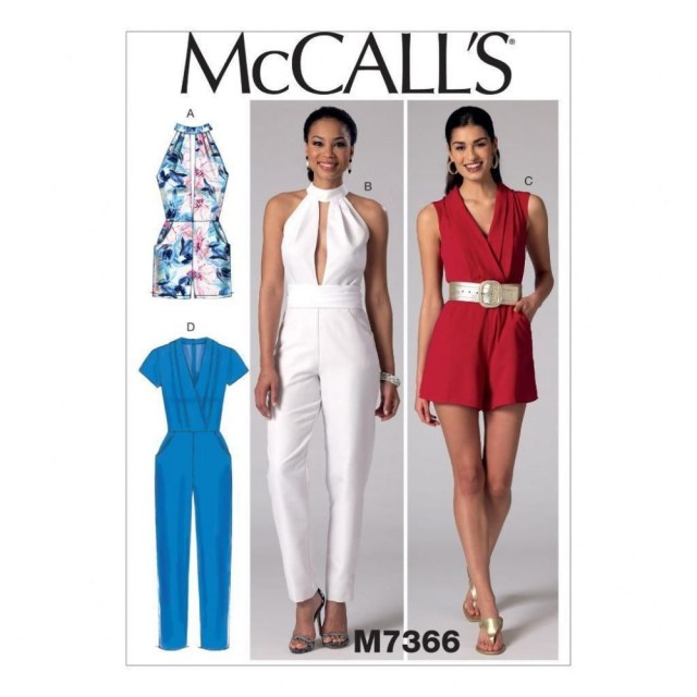 Jumpsuit Sewing Pattern Mccall S Sewing Pattern Misses Rompers Jumpsuits Belt Size 6 22