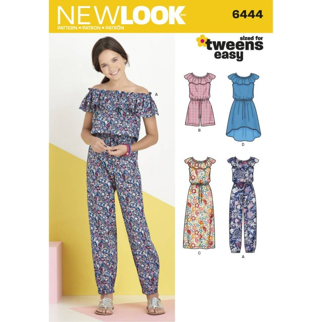 Jumpsuit Sewing Pattern New Look Childs Dress And Jumpsuit Sewing Pattern 6444 Hobcraft
