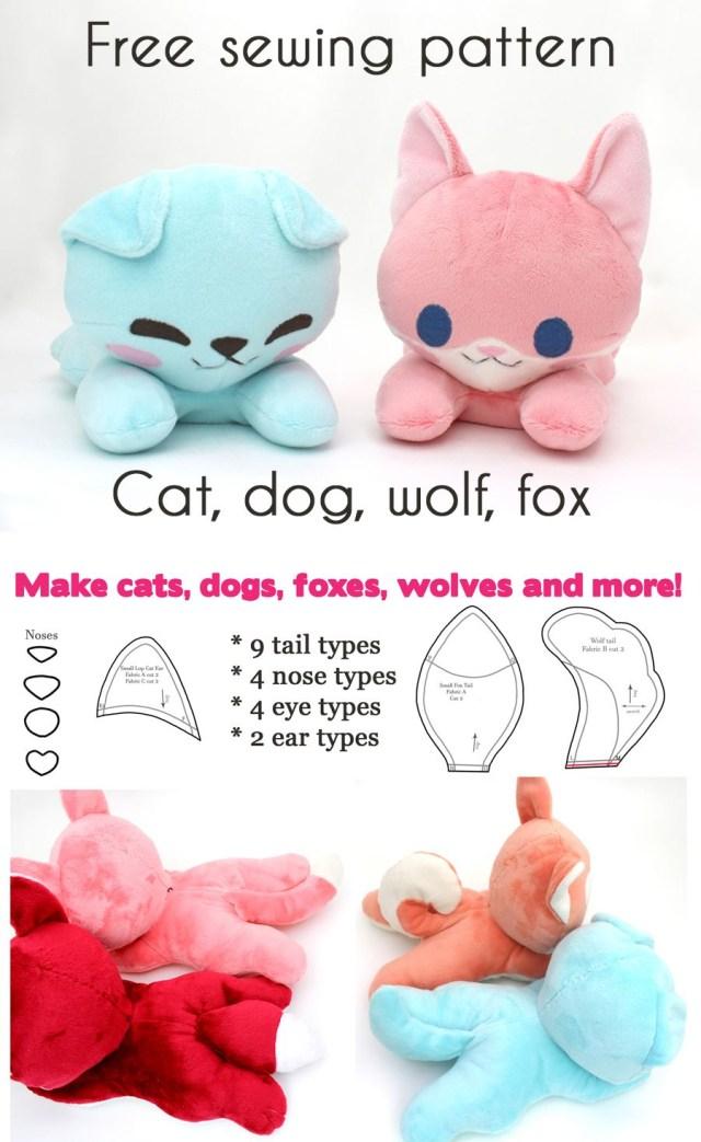 d627211d7339 Kawaii Sewing Patterns Free Kawaii Sewing Patterns To Make Your Own Stuffed  Animals Dog