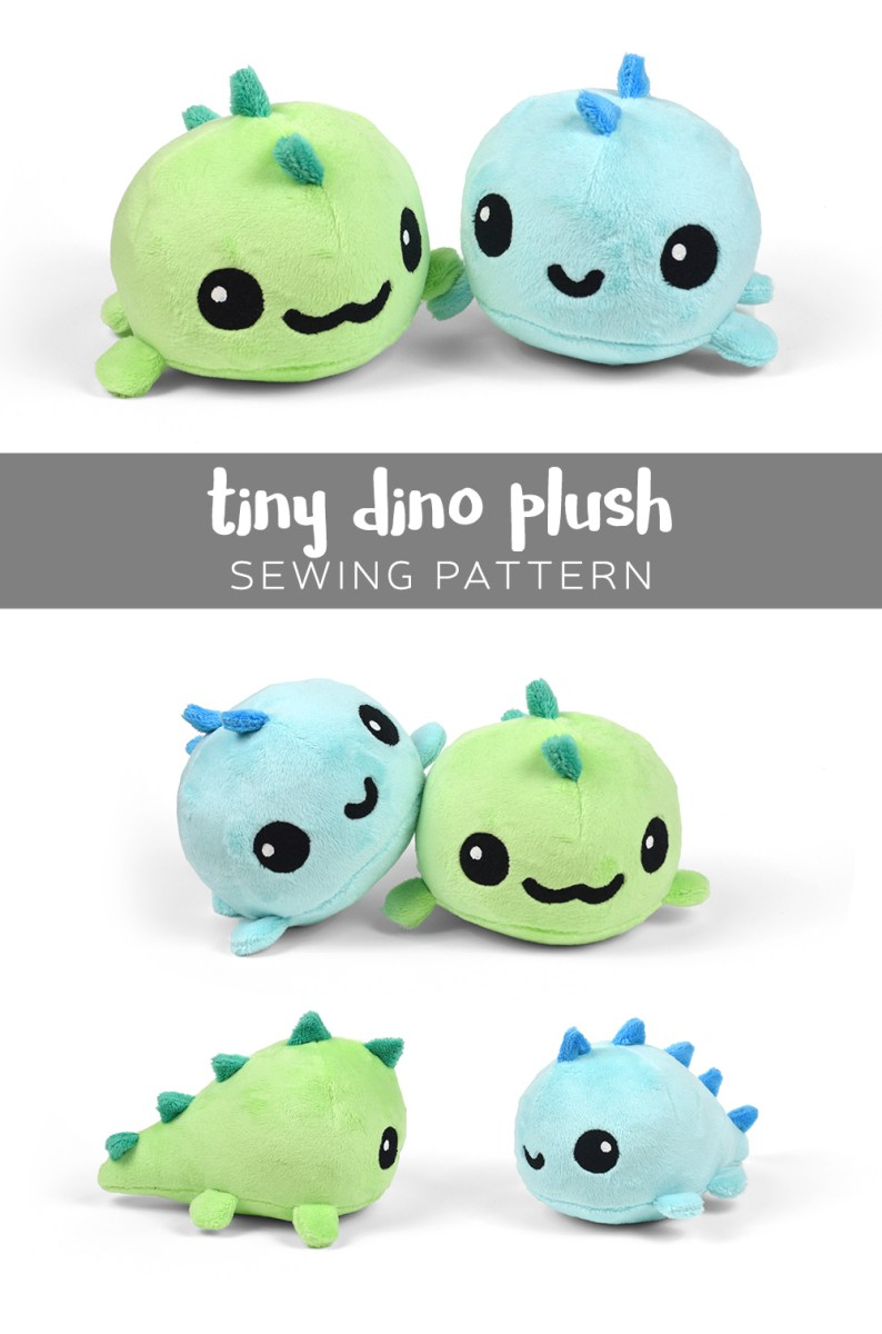 Kawaii Sewing Patterns Free Pattern Friday Tiny Dino Plush Choly Knight