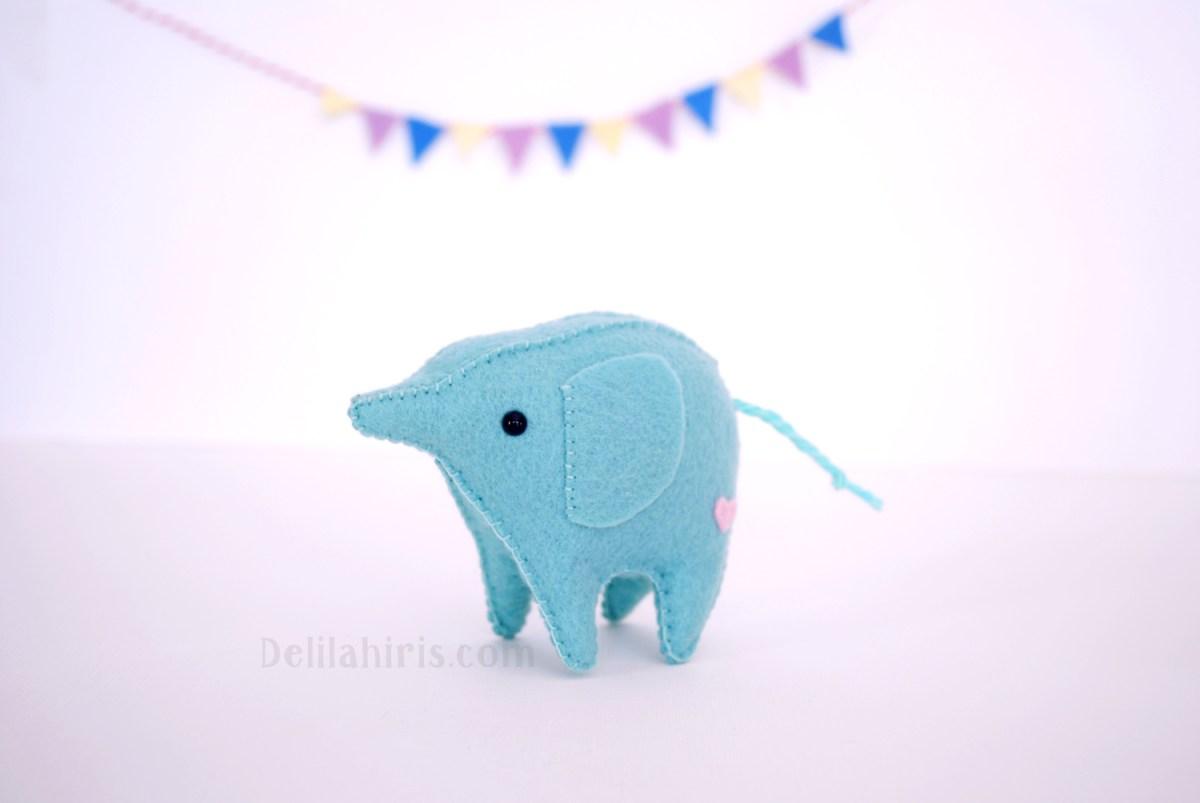 Kawaii Sewing Patterns Kawaii Felt Elephant Pattern Delilah Iris