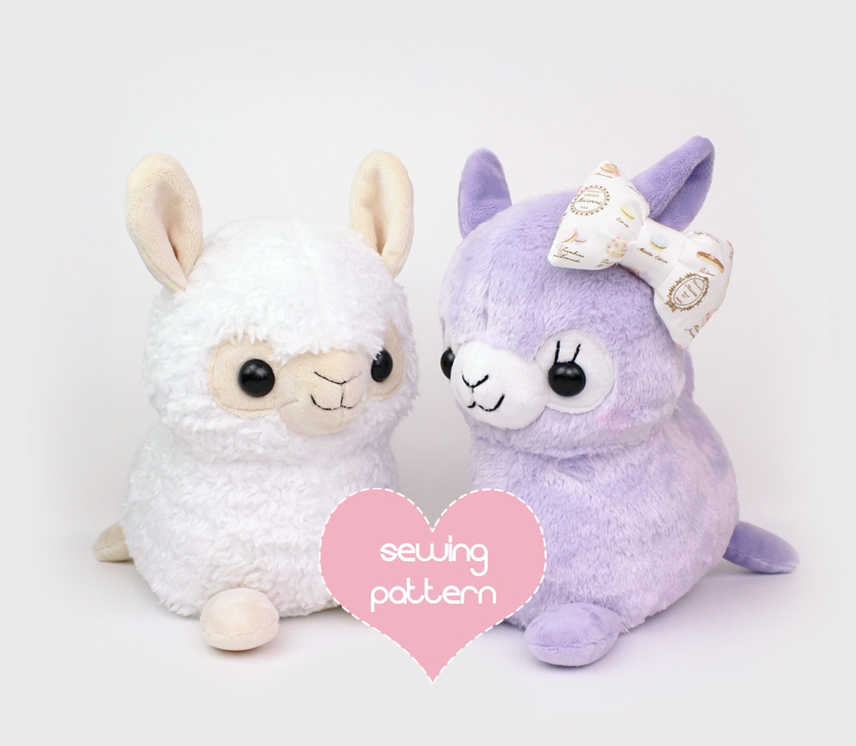 Kawaii Sewing Patterns Pdf Sewing Pattern Alpaca Llama Stuffed Animal Kawaii Etsy