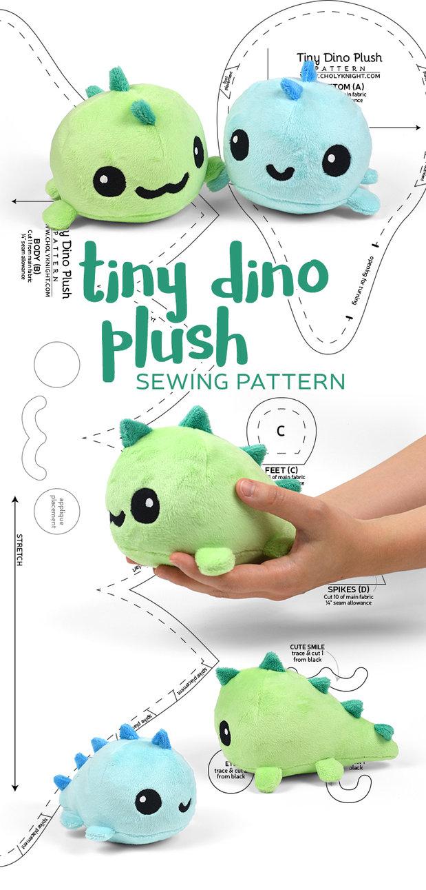 0e885d289210 Kawaii Sewing Patterns Tiny Dino Plush Sewing Pattern Sewdesune On  Deviantart