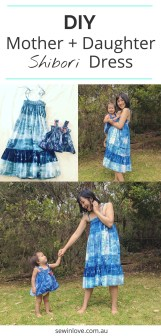 Kids Patterns Sewing Daughters Shibori Tie Dye Mother Daughter Dress Patterns Sewing Sewing