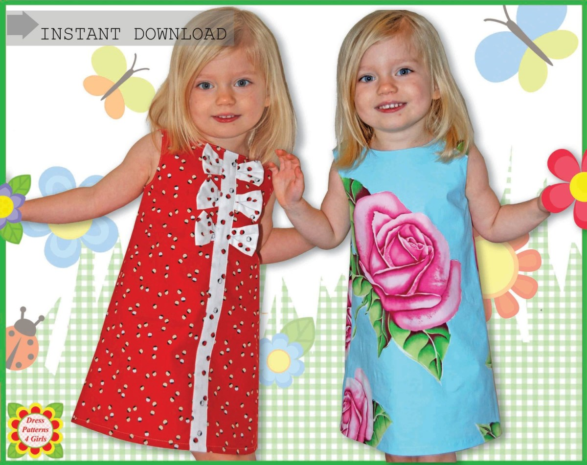 Kids Patterns Sewing Free Adele Sewing Pattern For Children Free Mother Daughter Apron Etsy