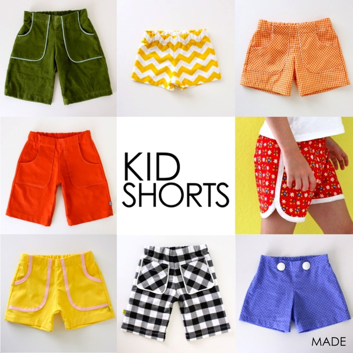 Kids Patterns Sewing Pattern Kid Shortsages 12 Months To 10 Years Made Everyday