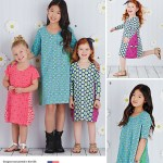 Kids Patterns Sewing Simplicity Simplicity Pattern 8147 Childs And Girls Knit Dresses From