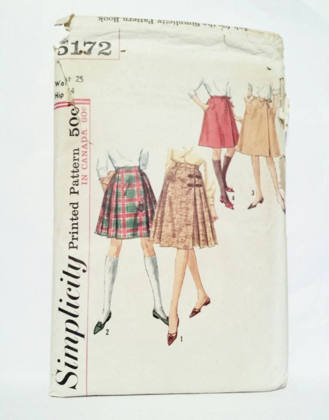 Kilt Sewing Pattern 1960s Skirt Sewing Patterns Simplicity 5172 Pleated Skirt Wrap
