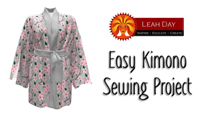 Kimono Sewing Pattern Easy Kimono Sewing Project With Sprout Patterns Youtube