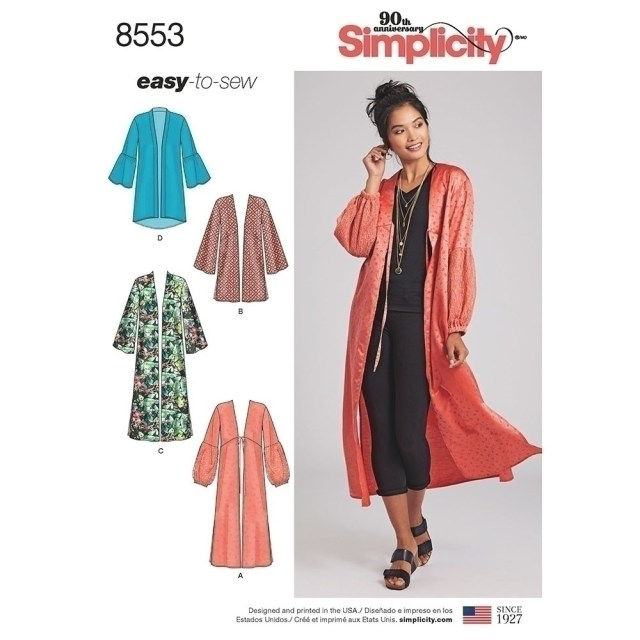 Kimono Sewing Pattern Misses Kimonos Simplicity Sewing Pattern 8553 Sew Essential