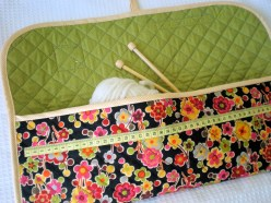 Knitting Bag Sewing Pattern Projects How To Make A Knitting And Crochet Pouch A Spoonful Of Sugar
