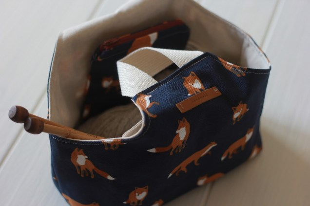 Knitting Bag Sewing Pattern Projects Sew Foxy Knitting Bag Tutorial This Handmade Life