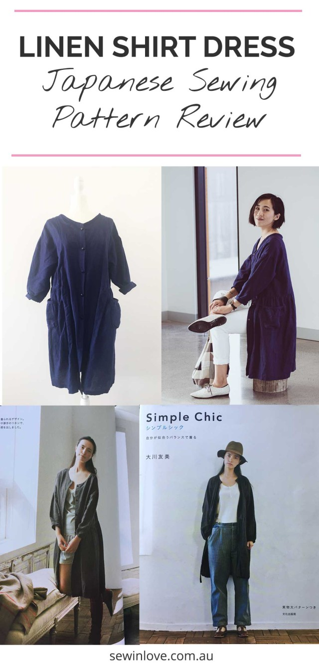 Linen Tunic Sewing Pattern Japanese Pattern Review Linen Shirt Dress From Simple Chic Sew In