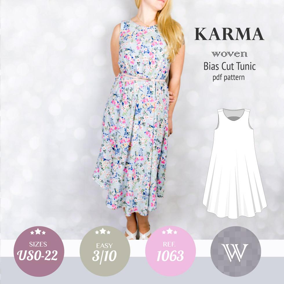 Linen Tunic Sewing Pattern Karma Woven Bias Cut Tunic Pdf Sinclair Patterns