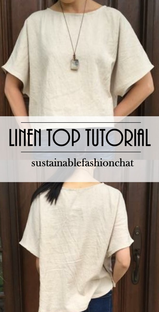 Linen Tunic Sewing Pattern Tutorial How To Sew A Linen Top With No Pattern Sustainable
