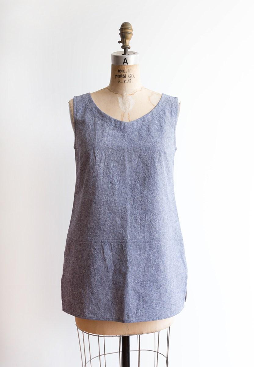 Linen Tunic Sewing Pattern Uniform Tunic Fabric Suggestions Grainline Studio