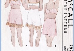 Lingerie Sewing Patterns M 7823 Bust 32 In 2018 Fashion Pinterest Vintage Sewing