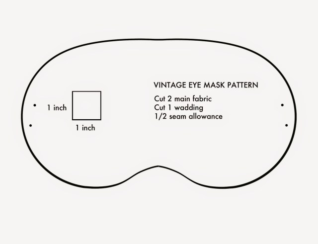 Mask Sewing Pattern Amelie And Atticus Vintage Eye Mask Tutorial