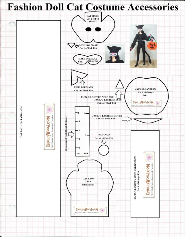 Mask Sewing Pattern Free Printable Sewing Pattern For Dolls Halloween Cat Mask