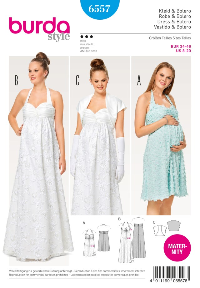 Maternity Sewing Patterns Burda 6557 Misses Maternity Dress