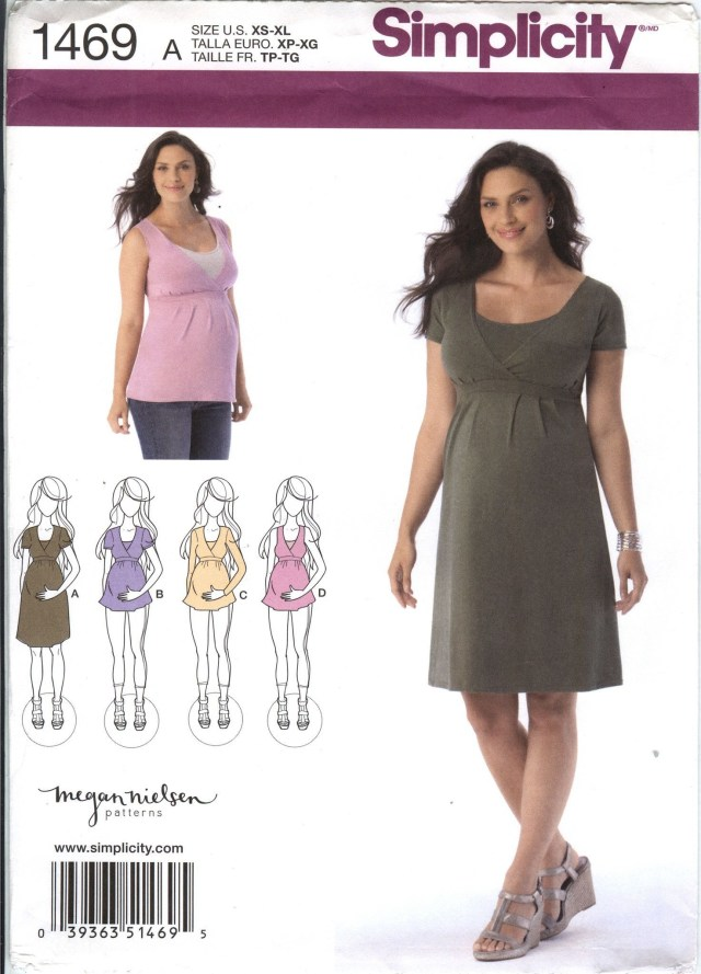 Maternity Sewing Patterns Simplicity 1469 Misses Maternity And Nursing Knit Dress Or Top