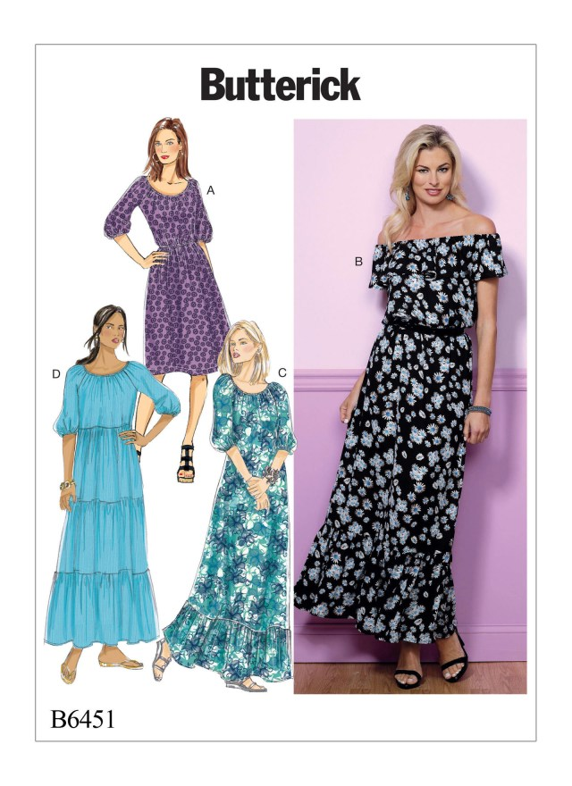 Maxi Dress Sewing Pattern Sewing Pattern Misses Gathered Blouson Dresses Butterick Etsy