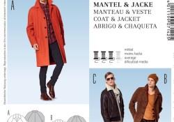 Mens Coat Sewing Pattern Burda 7142 Mens Coat