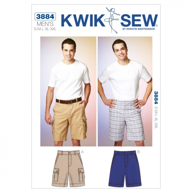 Mens Sewing Patterns Kwik Sew Mens Sewing Pattern 3884 Shorts Cargo Shorts Sewing