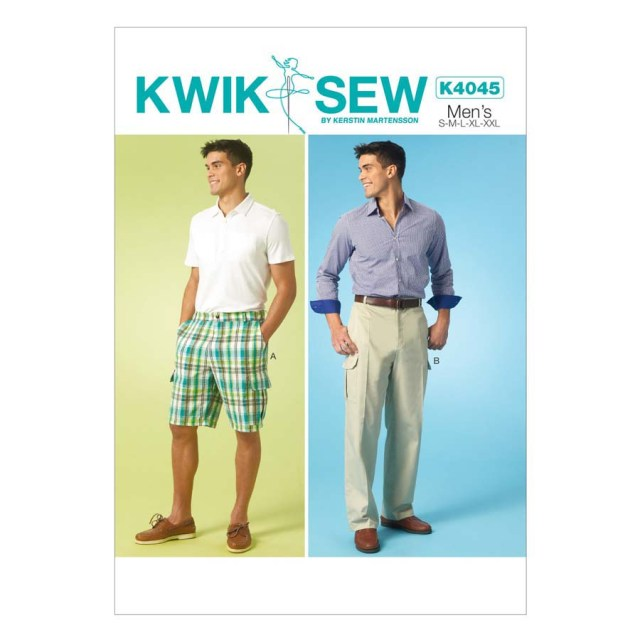 Mens Sewing Patterns Kwik Sew Mens Sewing Pattern 4045 Mens Shorts Pants Trousers Ebay