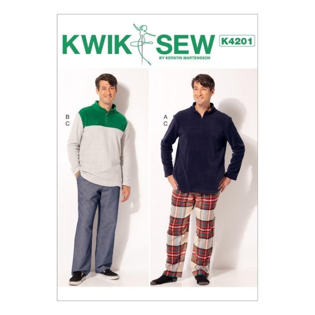Mens Sewing Patterns Kwik Sew Sewing Pattern Men S Tops Pants Pajama Knits Size S Xxl