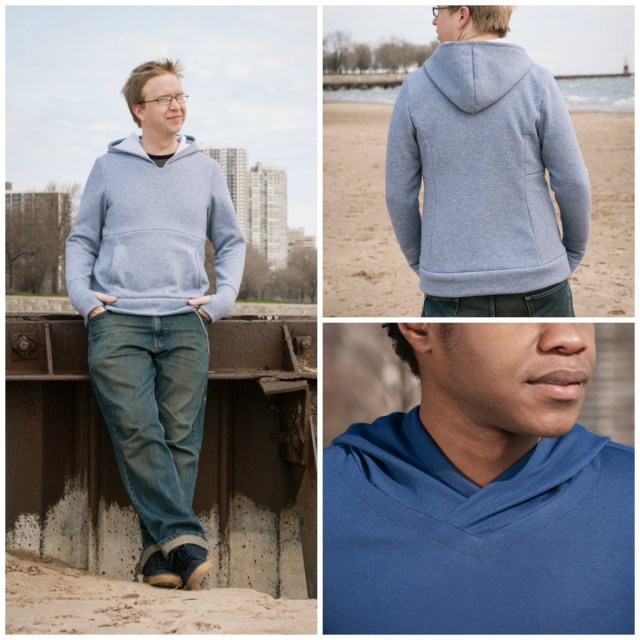 Mens Sewing Patterns Seamster Patterns 6401 Avocado Mens Hoodie Downloadable Pattern