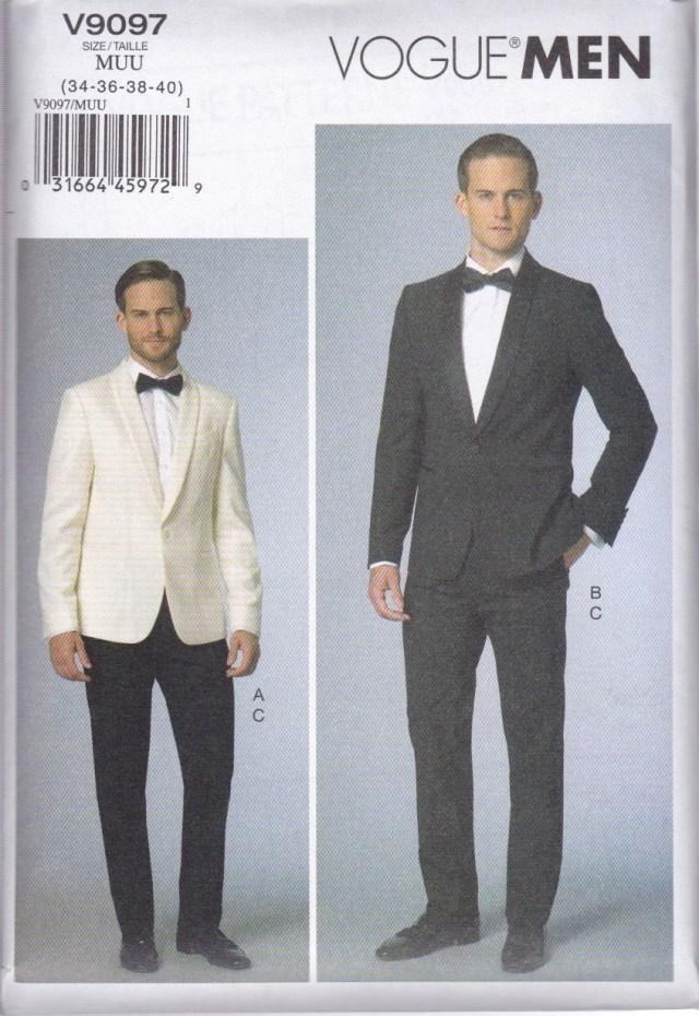 Mens Sewing Patterns Vogue Sewing Pattern Men S Evening Prom Jacket Pants V9097