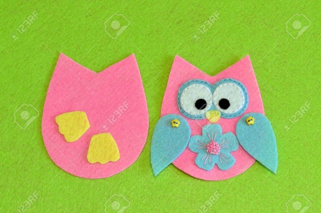 Owl Sewing Pattern Owl Sewing Pattern Stitched Details Of Bird Toy Felt Owl Ornament