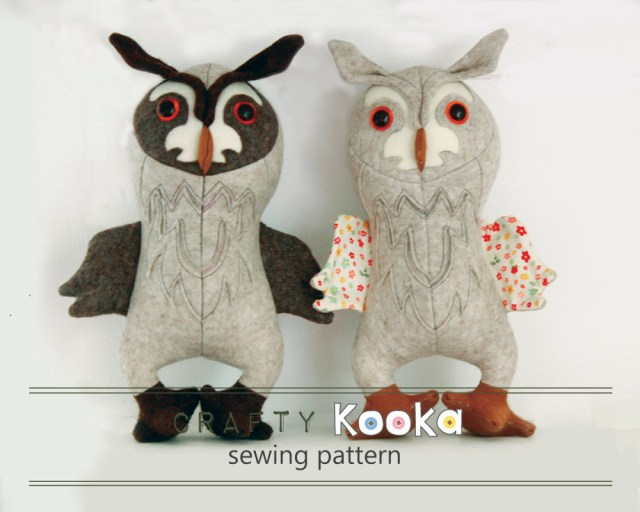 Owl Sewing Pattern Owl Stuffed Animal Pattern Pdf Sewing Pattern Owl Toy Sewing