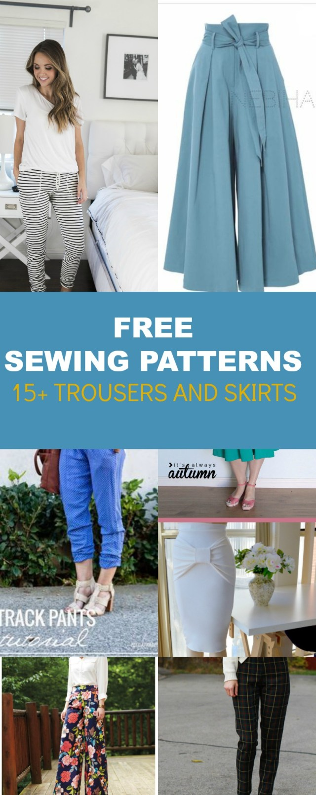 Pants Sewing Pattern Free Pattern Alert 15 Pants And Skirts Sewing Tutorials On The